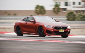 Picture coupe, speed, BMW, track, 2018, 8-Series, 2019, dark orange, M850i xDrive, Eight, G15