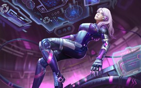 Picture Girl, Future, Robot, Computer, Blonde, Style, Girl, Fantasy, Art, Art, Robot, Style, Fiction, Fiction, Blonde, …