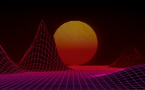 Picture The sun, Music, Star, Style, Background, 80s, Style, Neon, Illustration, 80's, Synth, Retrowave, Synthwave, New …