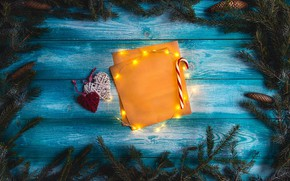 Picture background, tree, tree, New Year, Christmas, Christmas, bumps, wood, blue, background, hearts, New Year, decoration, …