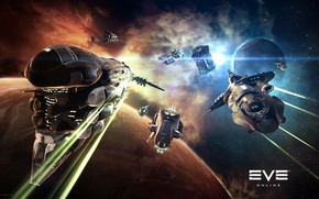 Picture nebula, planet, Space, space, battle, spaceship, eve online, battle, space ship, coooper