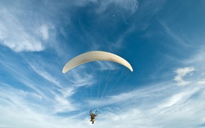 Picture photo, The sky, Sport, Parachuting, skydiving
