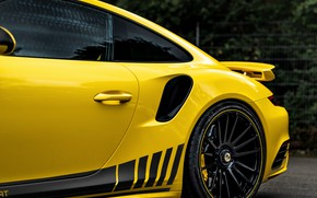 Picture yellow, coupe, 911, Porsche, the rear part, 991, Manhart, 911 Turbo S, 2020, 991.2, 850 …