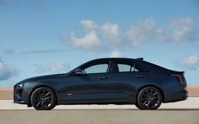 Picture Cadillac, sedan, in profile, four-door, 2020, CT4-V