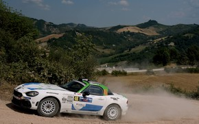 Picture dust, rally, 2018, the ground, Abarth, 124 Rally