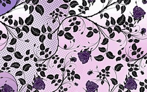 Picture flowers, background, pattern, roses