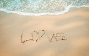 Picture sand, sea, wave, beach, summer, summer, love, beach, sea, heart, blue, sand, wave