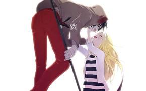 Picture girl, guy, two, Angel bloodshed, Satsuriku no Tenshi