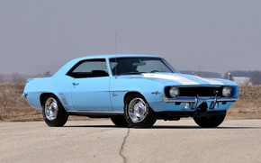 Picture Chevrolet, Camaro, Blue, Coupe, Muscle car, Z28, Cross Ram