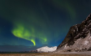 Picture mountains, Northern lights, Iceland