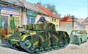 Picture soldiers, Tank, The second World war, Turan II, Hungarian, side skirts, 41.M Turan II
