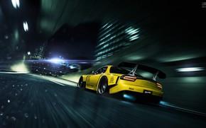 Picture Auto, Night, Yellow, The city, Machine, Speed, Movement, NFS, Mazda RX-7, Blind Sarathonux, Luminosity, by …
