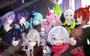 Picture girls, group, Honkai Impact 3rd