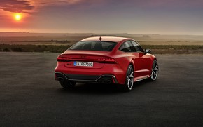 Picture sunset, Audi, the evening, rear view, Sportback, RS 7, RS7, 2020