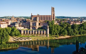 Picture France, France, old town, Tarn, Albi, Albi Old Town, The Cathedral Basilica of Saint Cecilia …