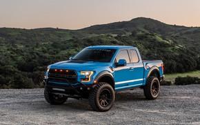 Picture lights, Ford, the evening, Raptor, pickup, F-150, Hennessey, VelociRaptor V8
