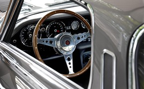 Picture The wheel, Dashboard, Jaguar E-Type