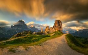 Picture road, clouds, rocks, road, clouds, rocks, Tomasz Rojek