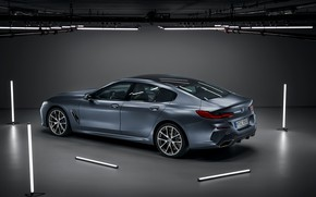 Picture light, background, lamp, coupe, BMW, Gran Coupe, 8-Series, 2019, the four-door coupe, Eight, G16