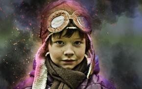 Picture portrait, boy, child, dreamer