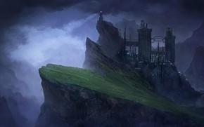Picture Mountains, The city, Rocks, Mountain, Landscape, Fortress, Architecture, Art, Art, Landscape, Mountain, Fiction, Fiction, Base, …