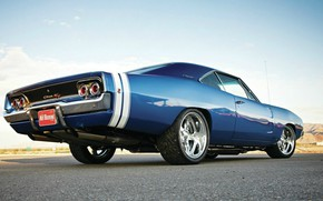 Picture Dodge, Blue, Coupe, Charger, Muscle car, Hemi, Vehicle, Modified