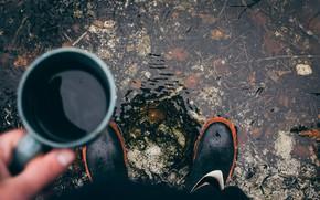Picture Autumn, Mood, Boots, Mug
