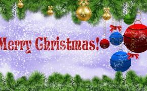 Picture Graphics, Snow, Congratulations, Bombki, Twigs