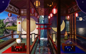 Picture room, interior, Japanese style