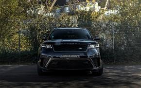 Picture black, Land Rover, Range Rover, front view, SUV, Manhart, 2020, Velar, SV 600