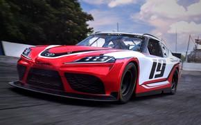 Picture speed, racing car, Toyota, Supra, 2019, Xfinity