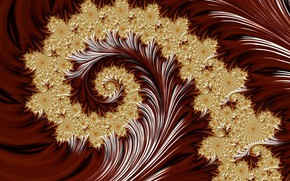 Picture background, curl, pattern gold
