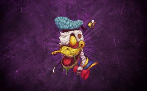 Wallpaper Minimalism, Background, Duck, Art, Donald Duck, Donald Duck, Duck, Donald, Donald, by Bogdan Timchenko, Bogdan ...