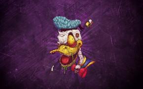 Picture Minimalism, Background, Duck, Art, Donald Duck, Donald Duck, Duck, Donald, Donald, by Bogdan Timchenko, Bogdan …