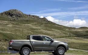 Picture the sky, mountain, profile, Mitsubishi, pickup, L200, 2015