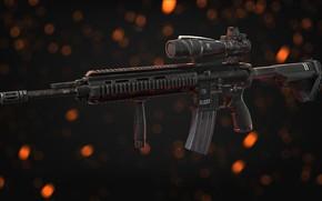 Picture rendering, weapons, machine, gun, weapon, render, Assault rifle, assault Rifle, HK 416, Heckler & Koch, …