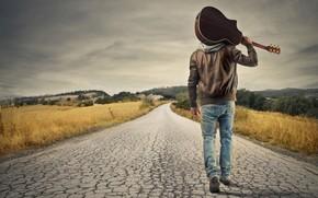 Picture Wallpaper, Road, Man, Mood