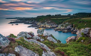 Picture France, Sunrise, Bretagne, Seascape, Beuzec-Cap-Sizun
