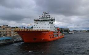 Picture ship, icebreaker, Alexander Sannikov
