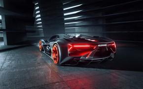 Picture Lamborghini, supercar, rear view, hypercar, The Third Millennium