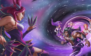 Picture girls, the game, the portal, male, two, League of Legends, League Of Legends