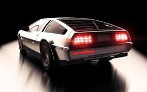 Picture Auto, Retro, Machine, DeLorean DMC-12, Car, DeLorean, DMC-12, Rendering, Transport & Vehicles, by Nicolas Fauvel, …