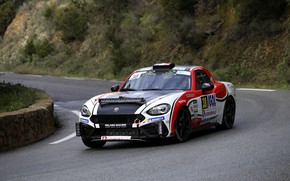 Picture turn, the fence, rally, 2018, Abarth, 124 Rally