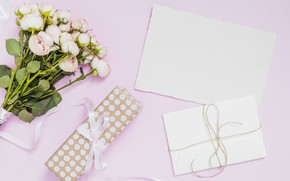 Picture gift, roses, bouquet, the envelope