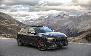 Picture mountains, Audi, TDI, crossover, ABBOT, 2019, SQ8