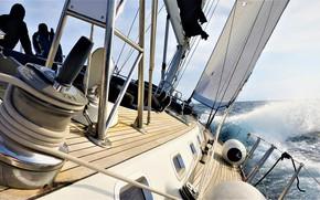 Picture sea, the way, the wind, sport, yacht, sails, yacht, regatta, antropoti, luxury sailing, BENETEAU-62