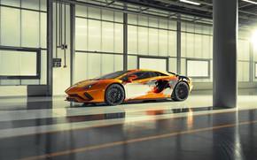 Picture machine, reflection, lights, Lamborghini, sports car, drives, bulls, Aventador S, Skyler Grey