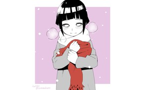 Picture girl, minimalism, Hinata Hyuga, Naruto, Naruto, SAPP, white background