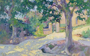 Picture picture, the urban landscape, Paul Madeline, Paul Madeline, Street with Trees
