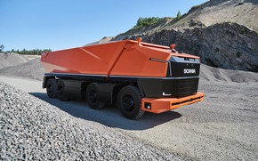 Picture Artificial intelligence, Scania AXL, Unmanned truck